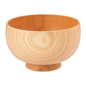 山中漆器 白鷺木工 汁椀 しらさぎ椀 M 約11cm けやき ナチュラル  380017
