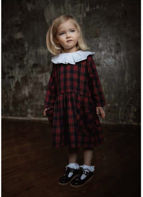 AS WE GROW Pocket Dress / Red