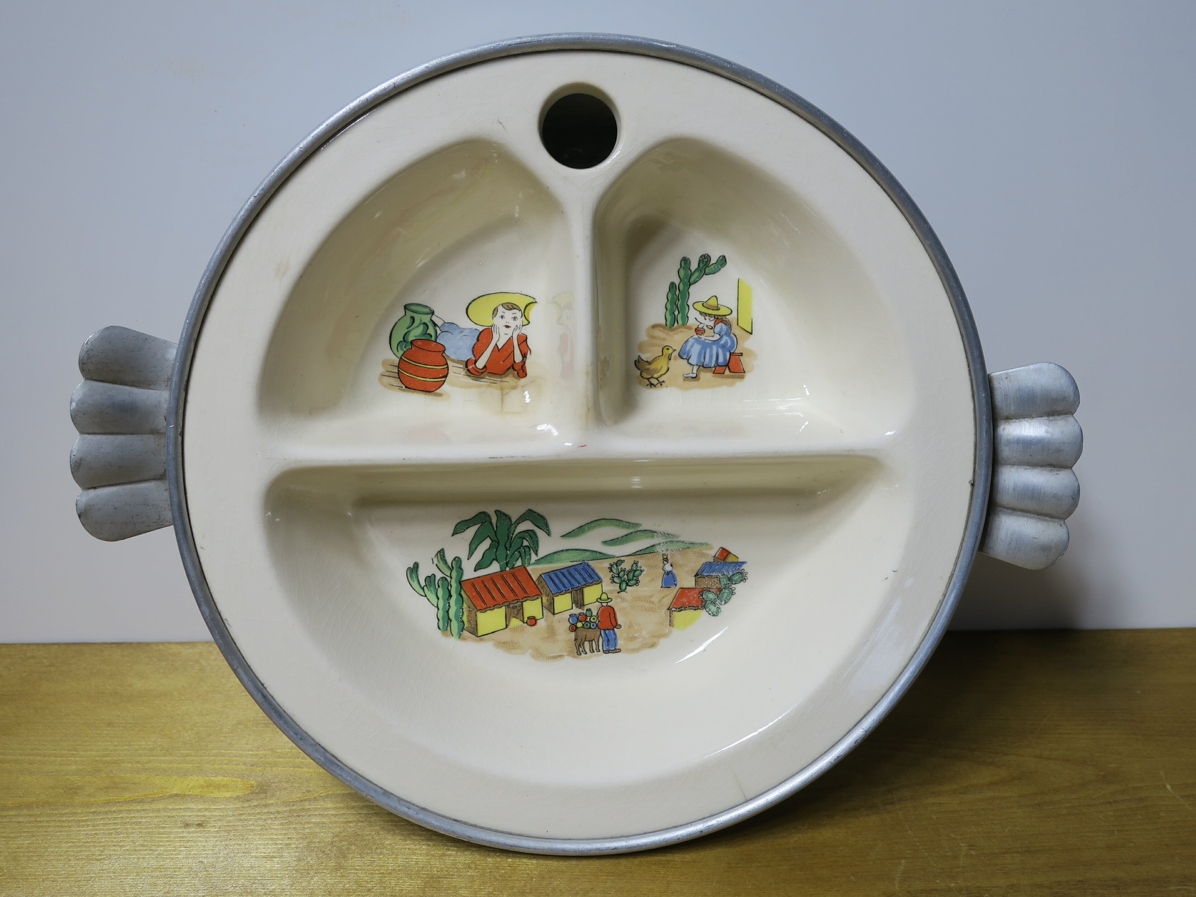 Excello Divided Baby Plate 1950's