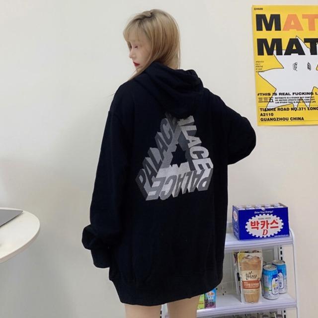 【トップス】韓国系ファッションフード付きbfシンプルパーカー42908510