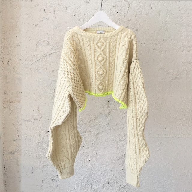 CROPPED ALAN KNIT PULLOVER / LL