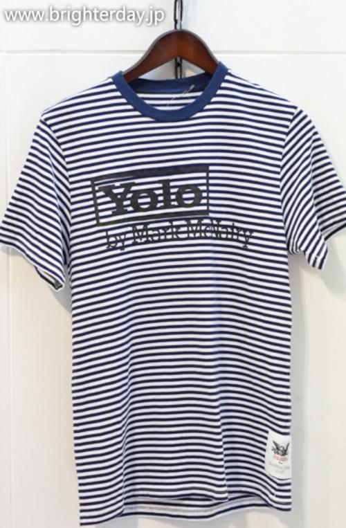 MARK MCNAIRY ボーダーTシャツ
