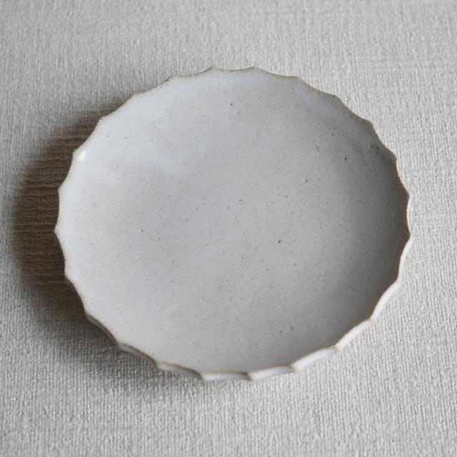輪花皿 White L