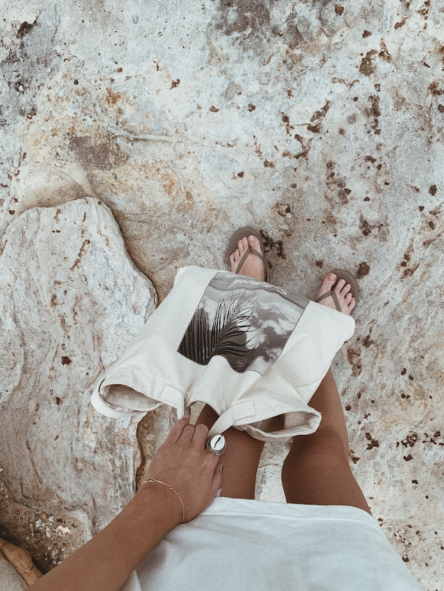"2way Canvas Bag ""palm in guam""《IVR》20382004"
