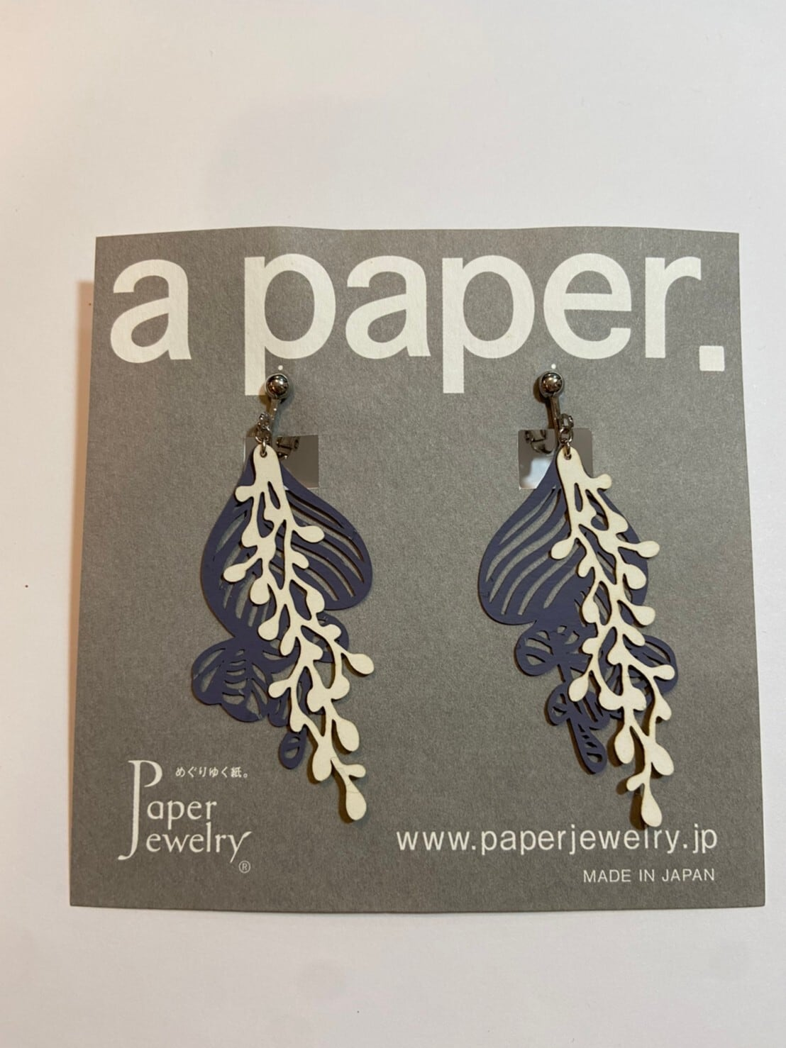 【Paper Jewely】ユーカリ/イヤリング