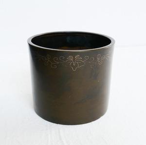 【30514】お香入れ 寸胴 / Copper Incense Bowl