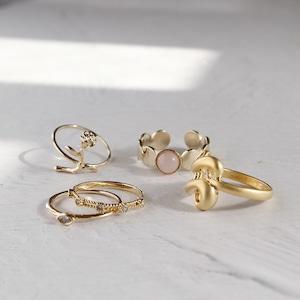 SET RINGS || 【通常商品】 PRIMAVERA GOLD RING SET C || 5 RINGS || GOLD || FBB003