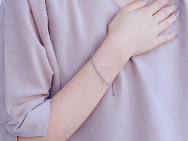 《niruc×KnottWorks》K10ゴールドストーンチャームブレスレット・K10YG CZ/Charm Bracelet×3colors