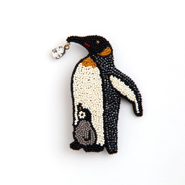 Môko Kobayashi/ペンギン ブローチ