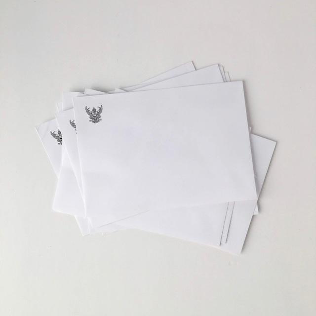 タイの白い封筒 洋型2号(10枚セット)|White Envelope of Thai(Set of 10)