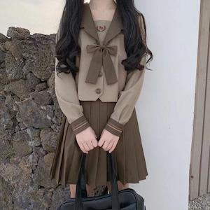 9867セーラー服 コスチューム jk制服 女子高生服 制服 セット 夏 春秋 長袖 半袖 ワイシャツ+スカート レディース 可愛い ショートプリーツスカート