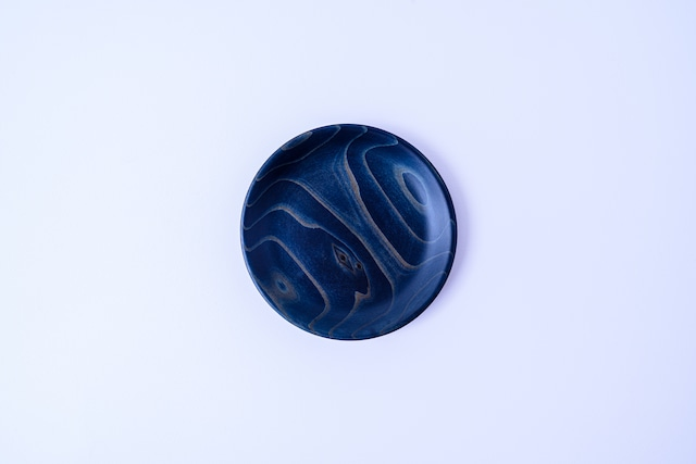 【舞工房】藍舞皿 濃染め 天然杉11cm