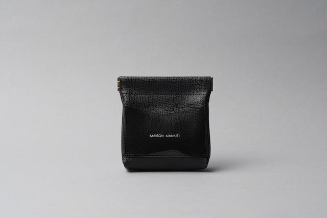 ワンタッチ・コインケース ■ブラック・クリアブラック■ - メイン画像