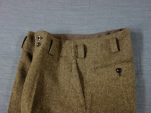 classic shetlandwooltweed trousers / beige
