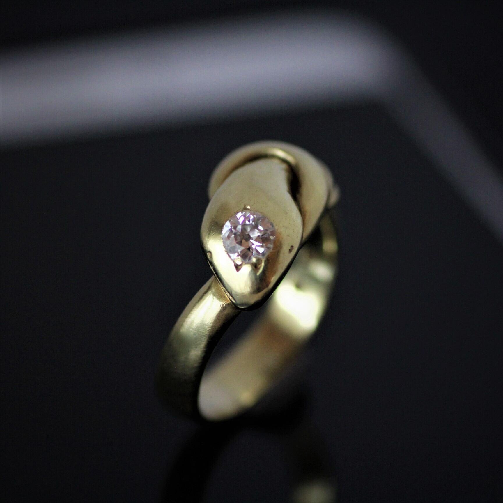 Gold & diamond Snake ring   ゴールド&ダイヤモンド スネークリング