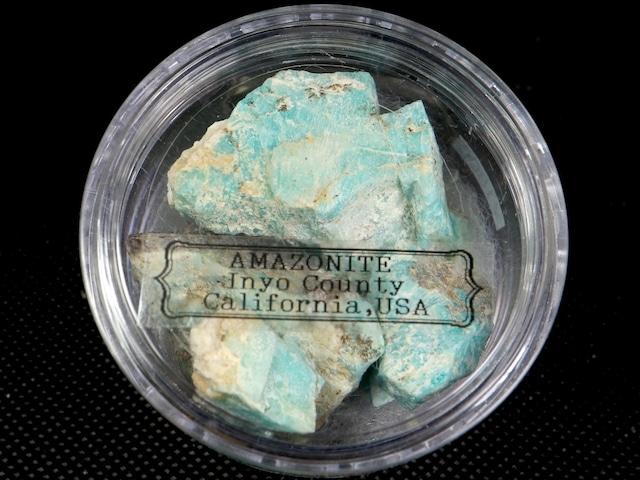 ※SALE※お得!自主採掘!アマゾナイト カリフォルニア産 丸ケース#1  AZ0062 天河石(てんがせき) 鉱物 天然石