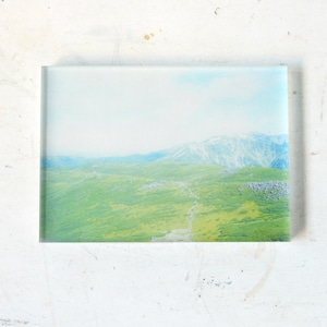【mt.souvenir】山の透けるアクリルパネル/雲ノ平と薬師岳(14×10cm)