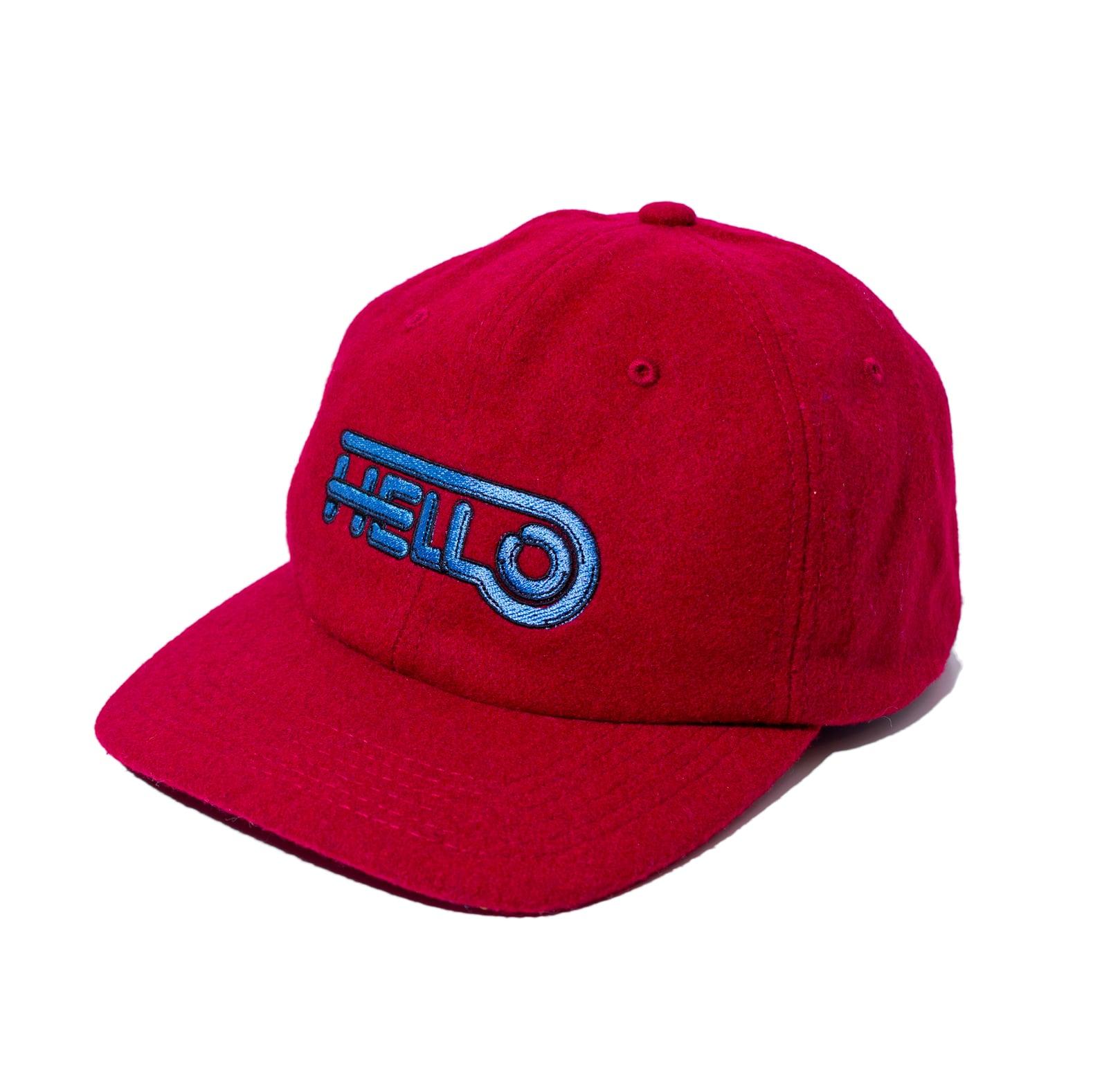 HELLO WOOL BB CAP #RED