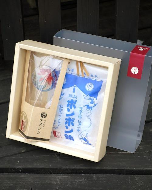 金魚鉢セット(箱入り)※2点扱い