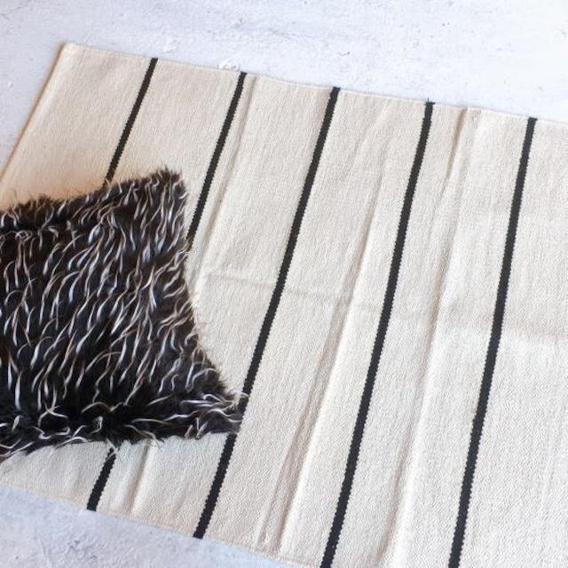 TOPANGA Homefurnishing  ブラックストライプダリマット 80×140cm