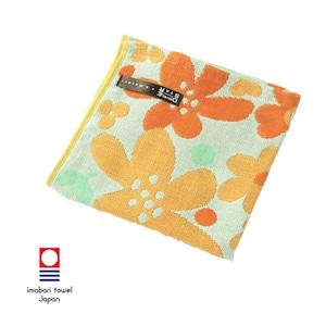 ライトガーゼ ウォッシュタオル/オレンジ
