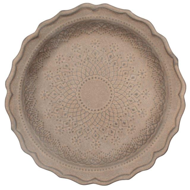 益子焼 わかさま陶芸 「フレンチレース」 プレート 皿 L 約23cm ビジュゴールド 255992