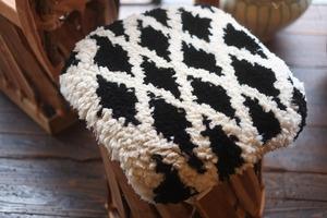 ◆【ノッティング・手織りの椅子敷き】◆(大) ◆    #20210615