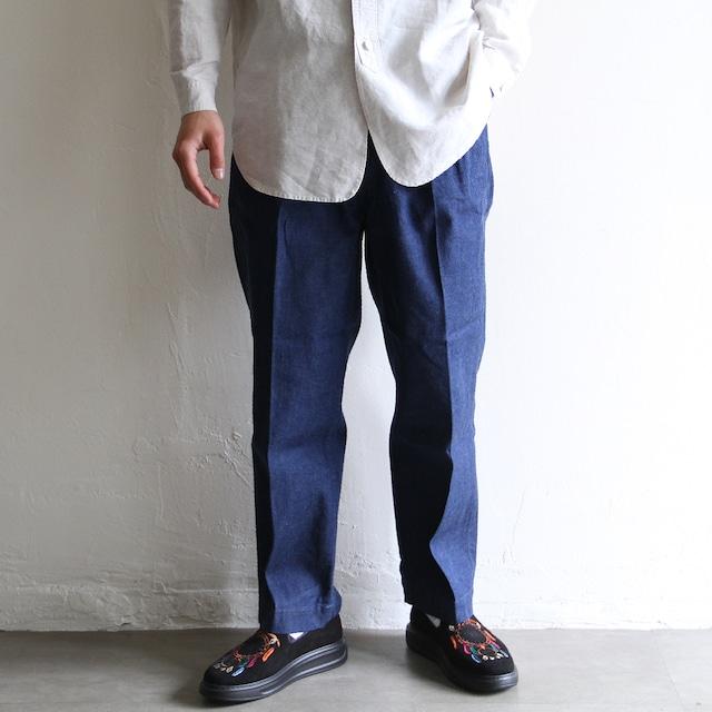 H.UNIT【 mens 】cotton linen check easy pants
