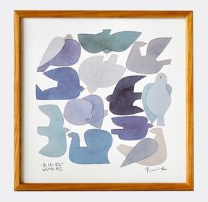 BIRDS WORDS POSTER 30  額装タイプ[木製]/ BLUEBIRD