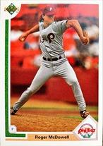 MLBカード 91UPPERDECK Roger McDowell #406 PHILLIES