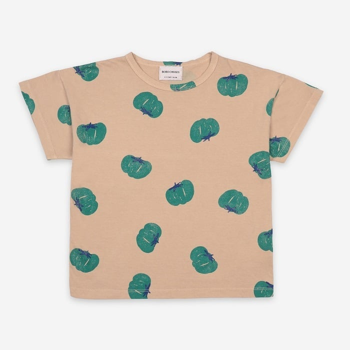 BOBOCHOSES Tomatoes All Over Short Sleeve T-Shirt