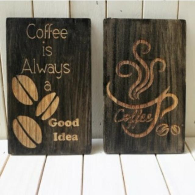 Cafe風コーヒーウォールアート セット  インテリアパネル 壁インテリア CAFEインテリア雑貨 引っ越し祝い 新築祝い プチギフト 新生活