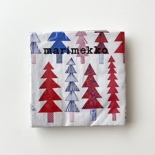 【marimekko】ランチサイズ ペーパーナプキン KUUSIKOSSA レッド