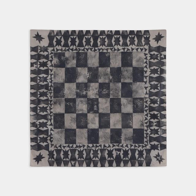 Shiori Mukai Textile 012 向井詩織 ブロックプリント 約90×87cm