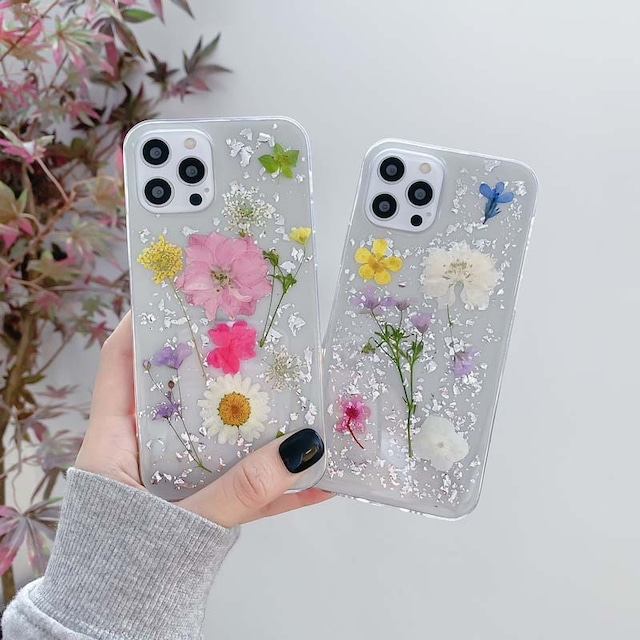 Colorful dried flowers iphone case