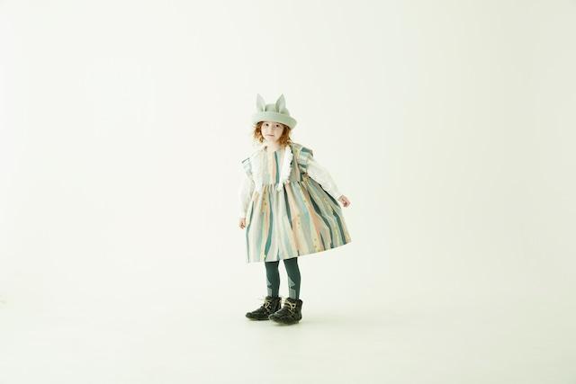【21AW】eLfinFolk(エルフィンフォルク)Crambon stripe dress(90/100/110/120/130)ワンピース