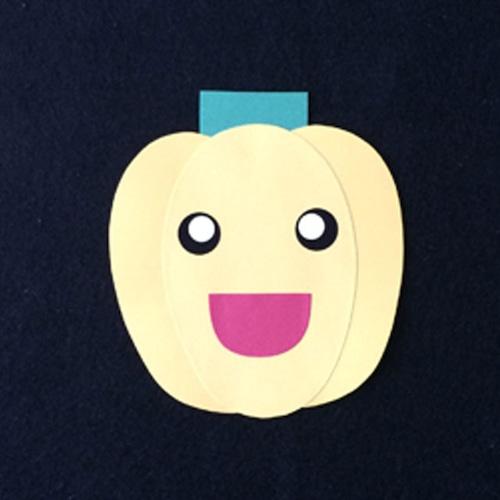 ピーマン(黄)の壁面装飾