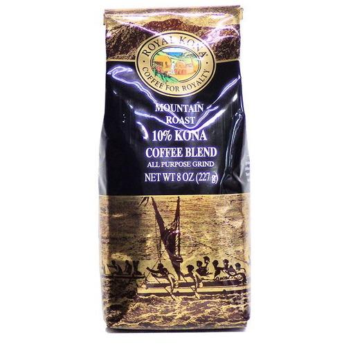 マウンティンロースト(挽き済みの粉) ロイヤルコナ(8oz 227g) ハワイコナコーヒー ノンフレーバー
