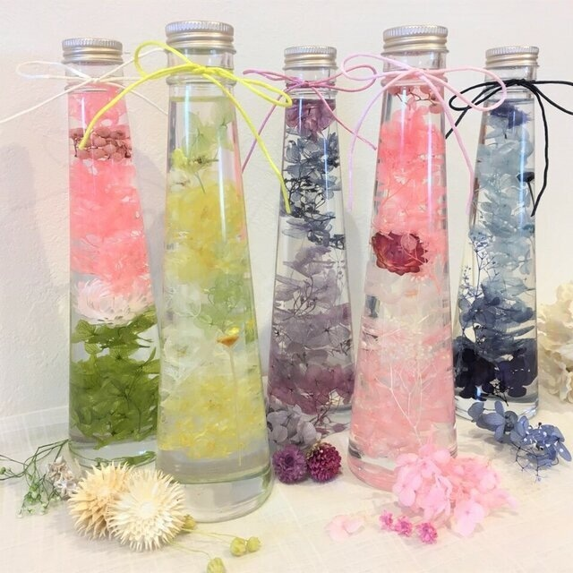 お花のハーバリウム5色
