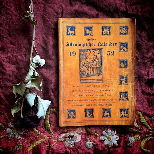 書籍「占星術カレンダー 1952」