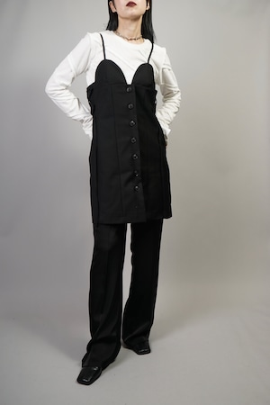 SIDE LACE-UP CORSET MINI DRESS  (BLACK) 2109-25-47