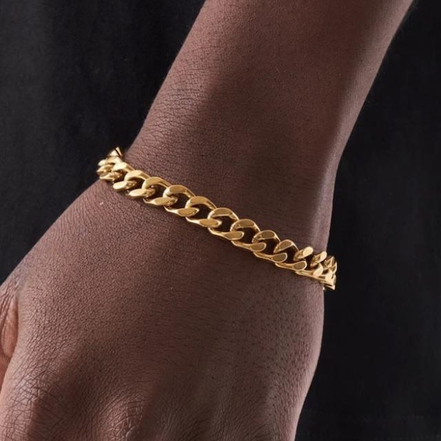 Miami Chain Link Bracelet 【8mm/GOLD】
