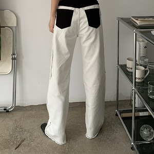 White design  jeans(ホワイトデザインジーンズ)b-177
