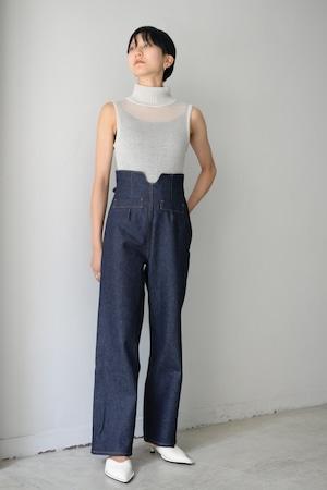 YOHEI OHNO / high waist denim (indigo)