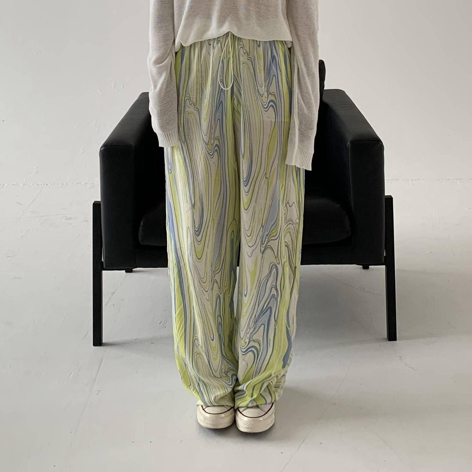Gradation color relax pants(グラデーションカラーリラックスパンツ)b-023