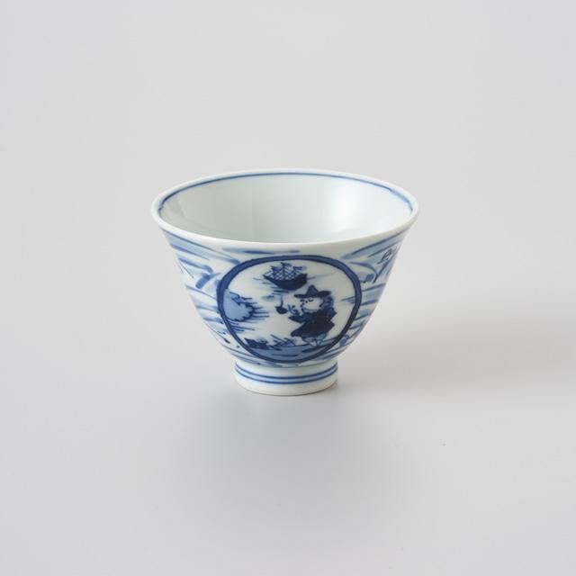 """【青花】""""長崎紋"""" 百合型仙茶"""
