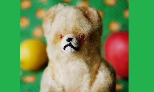 小熊のぬいぐるみ ドイツ 靴下 ヴィンテージ テディベア 愛されすぎたぬいぐるみ