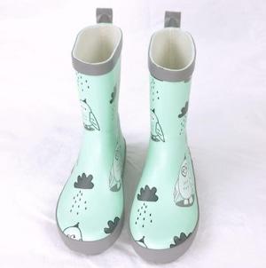 7856雨靴 キッズ  子供 子ども  ジュニア 長靴  レインブーツ レインシューズ 男の子 女の子 グリーン 15cm-22.5cm