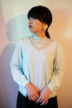 Mint lace blouse