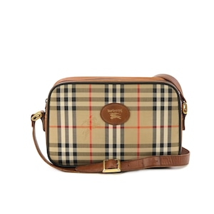 BURBERRY バーバリー  クラシックチェック ロゴ ショルダーバッグ ブラウン vintage ヴィンテージ オールド fv6s5s